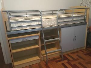 Loft Bed. Single bed.  Children's. Bookcase.  SOLD. East Kurrajong Hawkesbury Area Preview