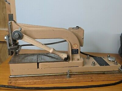 Vintage Kingsley Machine Hot Foil Stamping Machine 2 Line Model Lm-55nf Accs