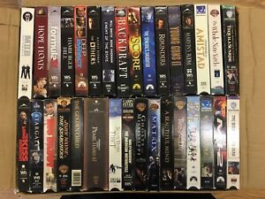 VHS movie collection