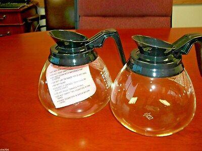 2 Pk - For Bunn - 64 Oz. Commercial Coffee Potcarafedecanter - Black - New