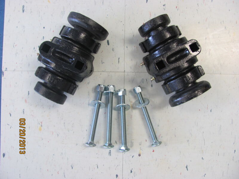 """2 DISC HARROW BEARING COMPLETE,1"""" SQUARE W/CAPS & BOLTS"""