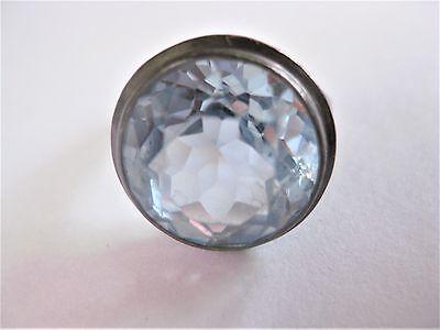 Antiker Ring Silber 935 mit Blautopas, 6,85 g