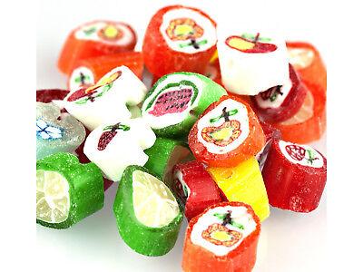 Primrose 2 lb Old Fashioned CUT ROCK Hard Candy Fruit Flavored w/ Designs
