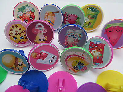 12 Shopkins Rings cupcake toppers - birthday party favor