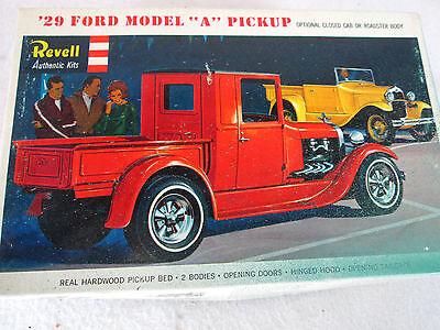 """Vintage 1965 Revell '29 Ford Model """"A""""  pick up model kit H-1272 junkyard parts"""