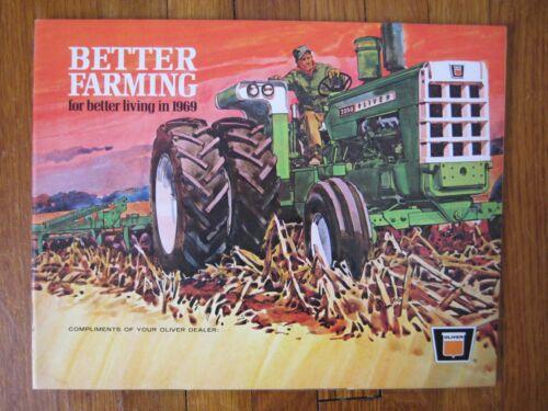 1969 Oliver Brochure 2150 2050 1950-T 1850 1750 1650 Tractor Combines plows Hay