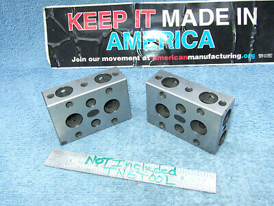 Moore 1-2-3 Vintage Blocks Used Toolmaker Machinist Grind Mill Inspect Quality