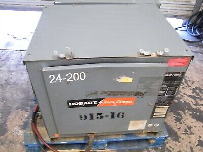 Hobart Accu-charge Forklift Battery Charger 725c3-12 24 Volts 12 Cells