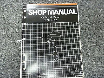Honda Models BF50 & BF5A Outboard Motor Shop Service Repair Manual P/N 61ZV101