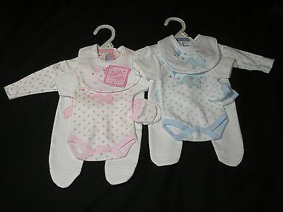 Premature Baby preemie clothes layette Sleepsuit vest mitts 3-5lb 5-8lb reborn