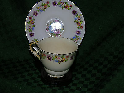 TEACUP& SAUCER ROYAL STAFFORD MULTI FLORAL