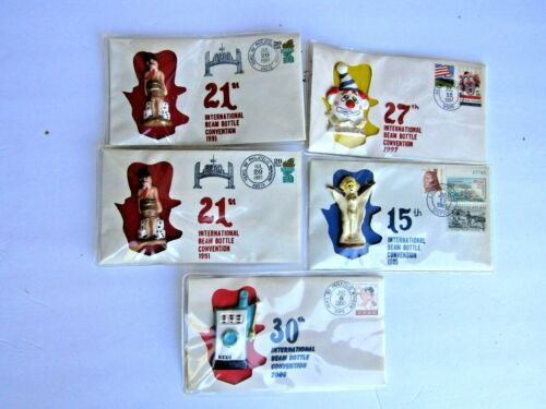 Jim Beam 5 Assorted 1st Day Covers 2 Man In A Barrel