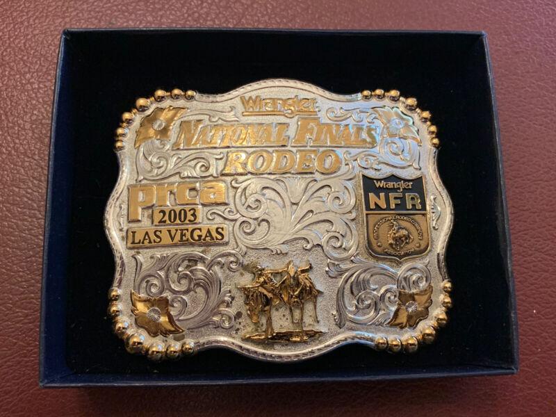 2003 National Finals Rodeo Collectors Belt Buckle LAS VEGAS