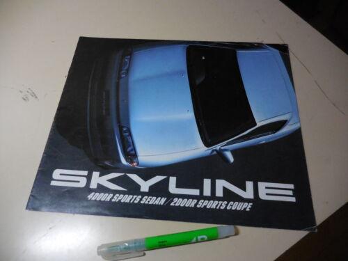 Nissan SKYLINE Japanese Brochure 1989/05 R32 RB25DE/20DET/20DE/20E RB26DETT GT-R