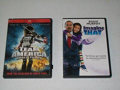 TEAM AMERICA WORLD POLICE & IMAGINE THAT DVDs