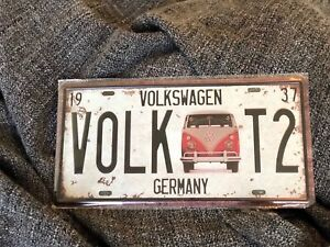 VW Volkswagen - Decorative Number Plate - Tin Sign