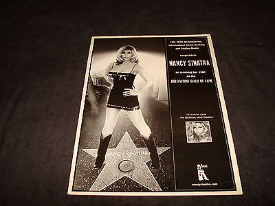 NANCY SINATRA ad Hollywood Walk of Fame Star 'These Boots Are Made For Walking'