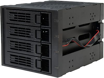 "Rosewill RSV-SATA-Cage-34 Black 3 x 5.25"" to 4 x 3.5"" Hard Disk Drive Cage"