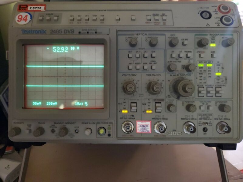 Tektronix 2465 DVS 300MHz 4 Channel Analog Oscilloscope with Word Recognition