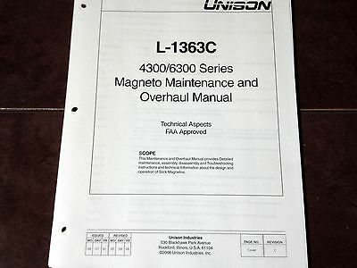 Unison 4300 & 6300 Series Magneto Service & Overhaul Manual