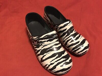 Used, Sanita Koi Zebra Print Clogs 42 for sale  Las Vegas