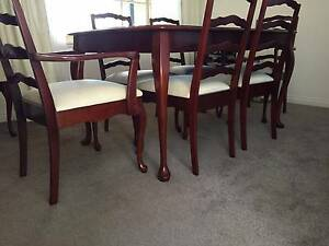 Dining Table with 8 X upholstered chairs Castlecrag Willoughby Area Preview