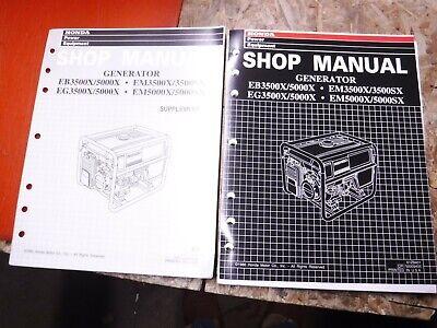 Up To 1995 Honda Generator Eg3500x 5000 Eb Em Sx Factory Service Manual Shop