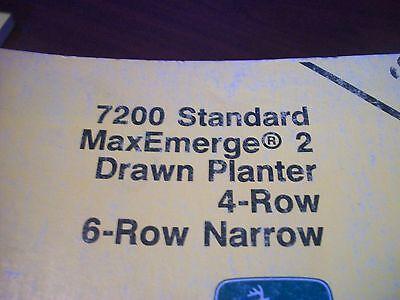 John Deere Operators Manual 7200 Std Maxemerge 2 Drawn Planter 4row 6row Narrow