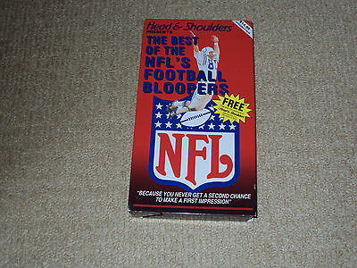 HEAD & SHOULDERS PRESENTS THE BEST OF THE NFL'S FOOTBALL BLOOPERS, VHS, 1990 (Best Head And Shoulders)