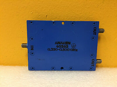 Anaren 40263 250 To 500 Mhz 3 Db Sma F 2 Way Coaxial Power Divider. Tested