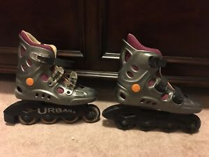 Roller blades sizes 1-4 for boys. Size 4 for girls