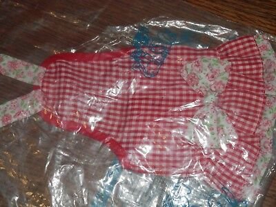 Gingham Girl Dog Apron, Size 8, Small, Fits Miniatures, Chihuahua, Puppies