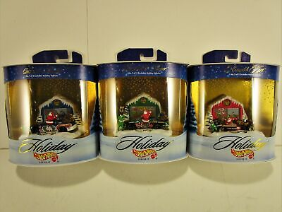 HOT WHEELS 1998 COMPLETE HOLIDAY RACING SERIES IV SET OF 3 NEW IN (Vacation Races)