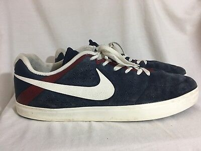e83345f4c0ea NIKE Blue White Suede Paul Rodriguez PROD Skateboarding Shoes Size 13