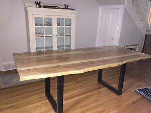 Custom Live Edge wood dining room tables and desks