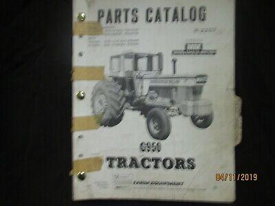 White Cockshutt Minneapolis Moline G950 Tractors Parts Catalog Book Manual 1970