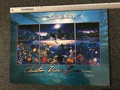 "Christian Lassen 24"" X 36"" Art Poster HARMONY  1991 Lassen Pub. Excellent"