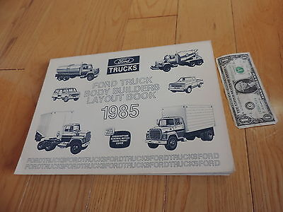 1985 FORD TRUCK BODY BUILDERS LAYOUT BOOK SERVICE MANUAL