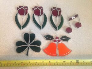 Vintage Stained Glass Window Hangers / Sun Catchers, $10 Each