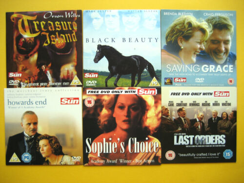 ASSORTMENT OF DVD'S  FROM VARIOUS  SUN NEWSPAPER PROMOTIONS (6 DVD'S )  002