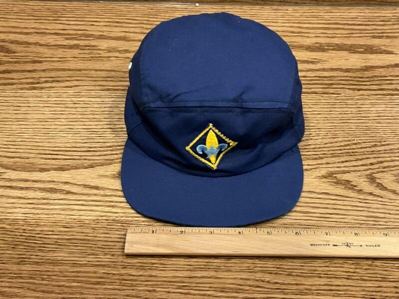 Vintage Cub Scout Webelos Hat/Cap Navy Blue BSA Boy Scouts of America
