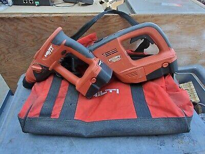 Hilti Te 2-a Rotary Hammer Drill 24v Battery Wsr 650-a Reciprocating Saw Bag