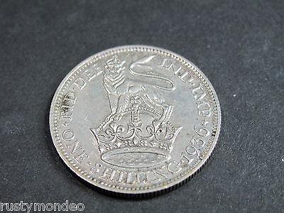 (1) King George V, 1936, .500 Silver Shilling. Grade Very Fine