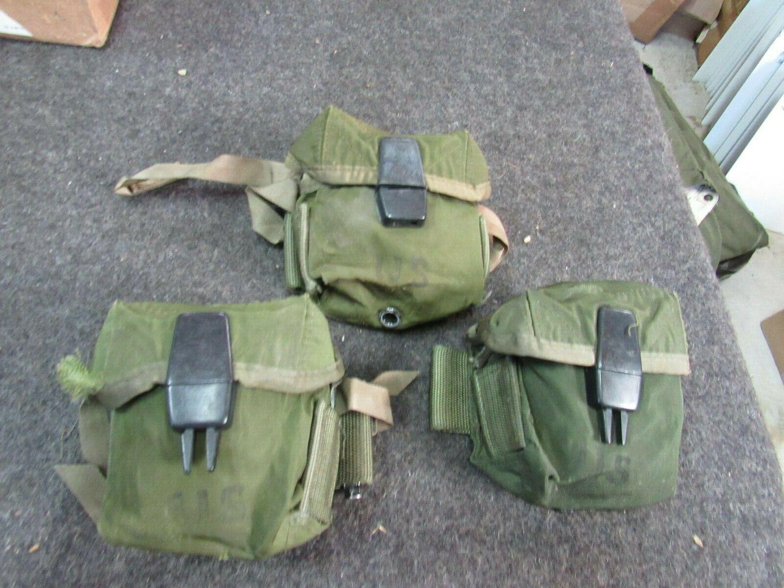 US GI M-56 Universal small arms pouches Vietnam Nylon Shorty x3 pcs (STY2)