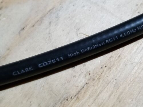 Clark Wire&Cable CD7511 Premium Low-Loss HD/SDI RG11 Coaxial 4.5GHz Black/50ft
