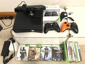 Xbox 360 + kinect + 4 wireless controllers + 13 games