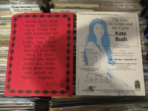 RARE KATE BUSH THE LINE THE CROSS AND THE CURVE PROMO FLYER WASHINGTON-BALTIMORE