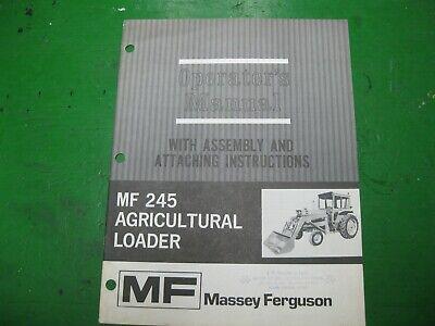 Massey Ferguson Mf245 Mf 245 Farm Agricultural Loader Manual Original Nos