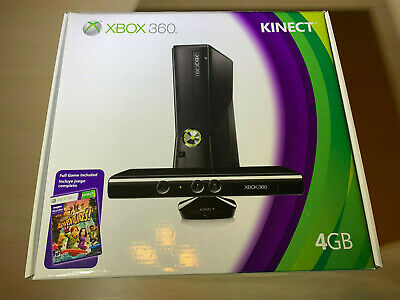 Microsoft Xbox 360 with Kinect 4GB Black Console Brand New