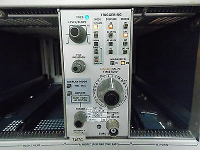 Tektronix 7b70 Time Base Plug-in W Cal Sticker 782015 To 752017